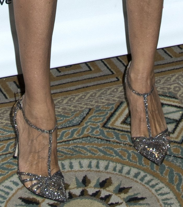 bcf364ad2c27 Sarah Jessica Parker s Carrie Heels at Outstanding Mother Awards