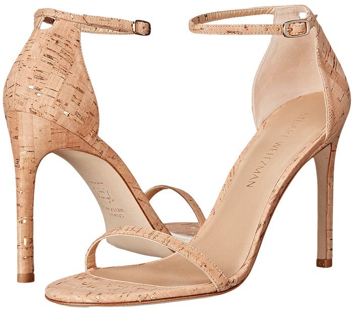 Stuart Weitzman Bridal & Evening Collection Nudistsong in Gold Nude Cork
