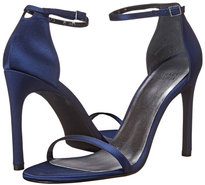 Stuart Weitzman Bridal & Evening Collection Nudistsong in Midnight Satin