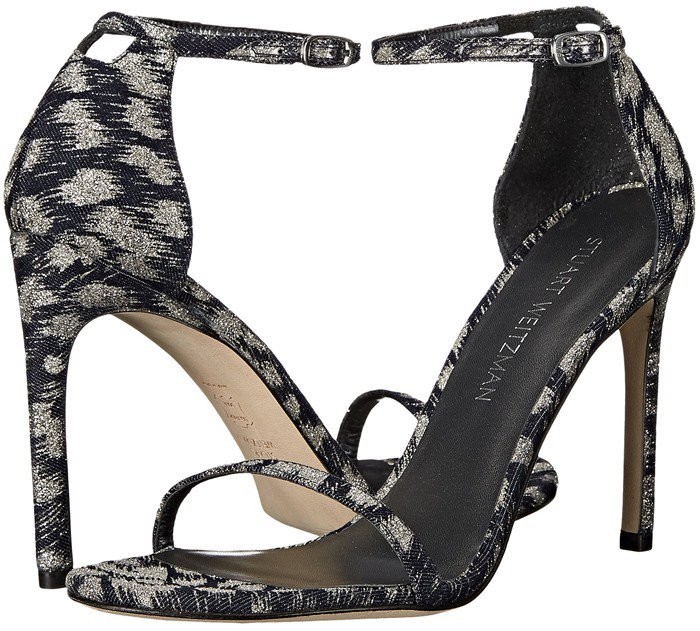 Stuart Weitzman Bridal & Evening Collection Nudistsong in Navy Galaxy Denim