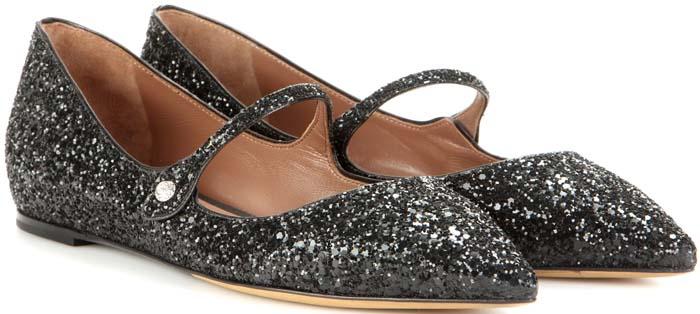 Tabitha Simmons Hermione Black Glitter 1