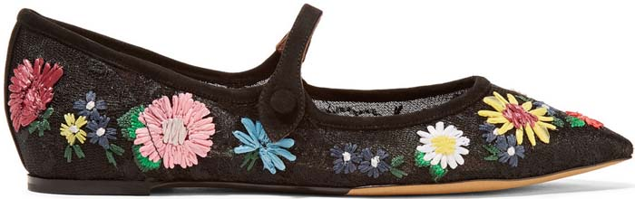 Tabitha Simmons Hermione Floral Black 1