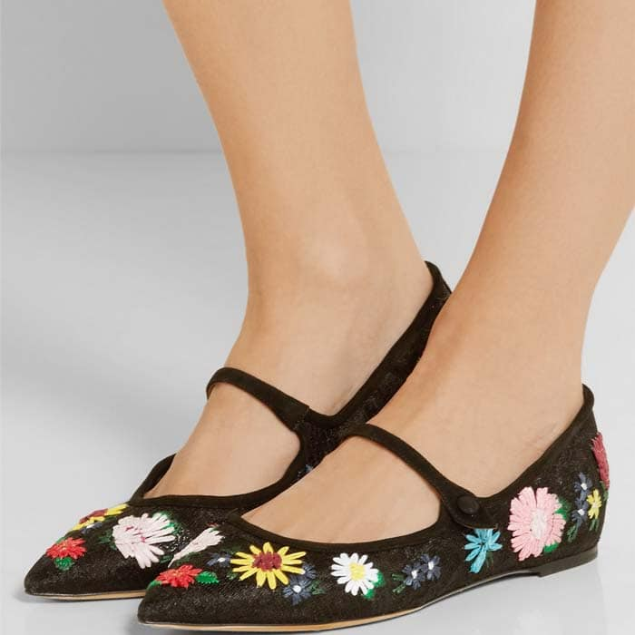Tabitha Simmons Hermione Floral Black 2