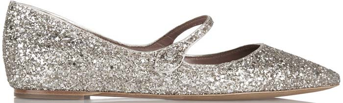 Tabitha Simmons Hermione Silver Glitter 1