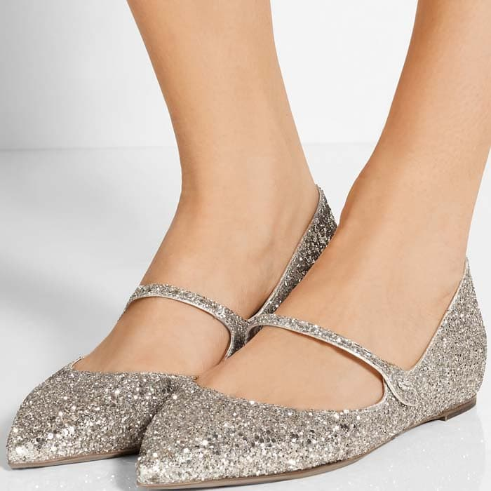 Tabitha Simmons Hermione Silver Glitter 2