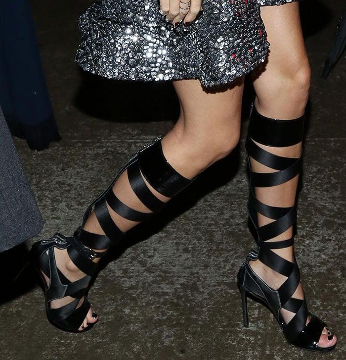Taylor-Swift-Louis-Vuitton-Knee-High-Gladiator-Sandals