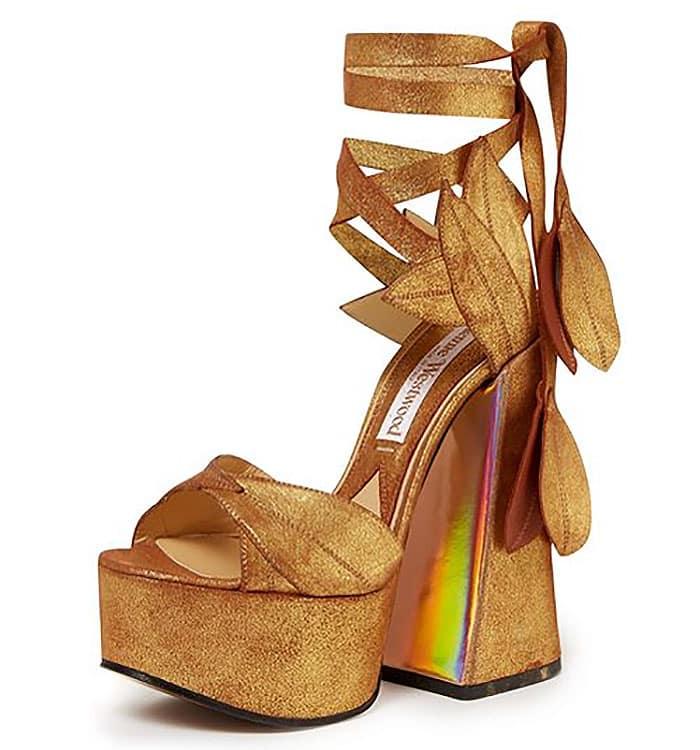 Vivienne Westwood Spring 2014 Gold-Leaf Platform Sandals