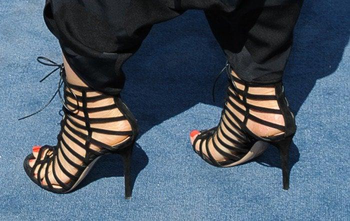 Alicia Keys nbcu gladiator sandals