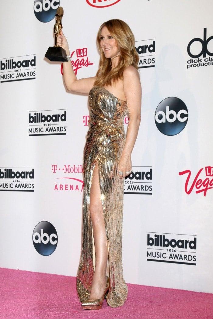 Celine Dion Billboard Music Awards saint laurent pumps
