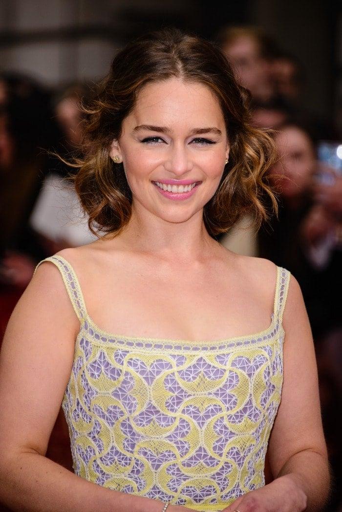 Emilia clarke UK me before you premiere