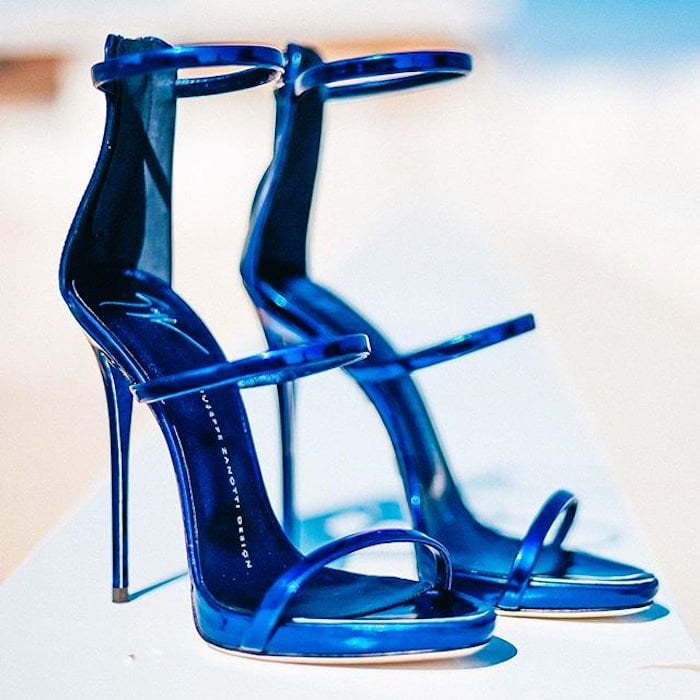 Giuseppe Zanotti Harmony Sandals in Electric Blue