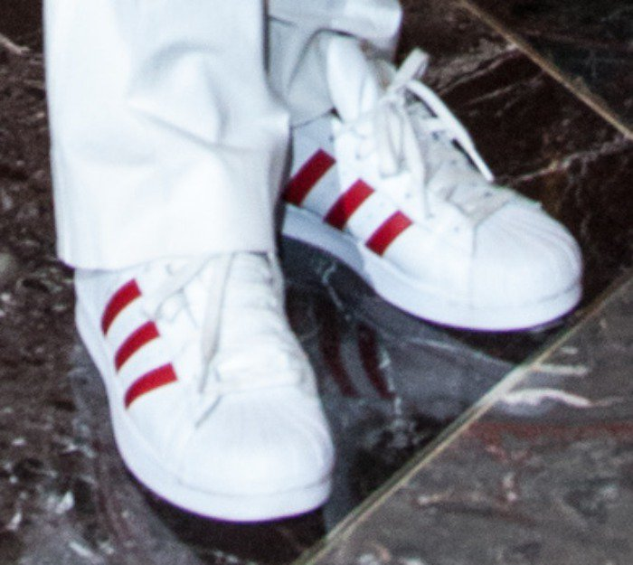Naomi Campbell Red Nose Day Adidas Superstars