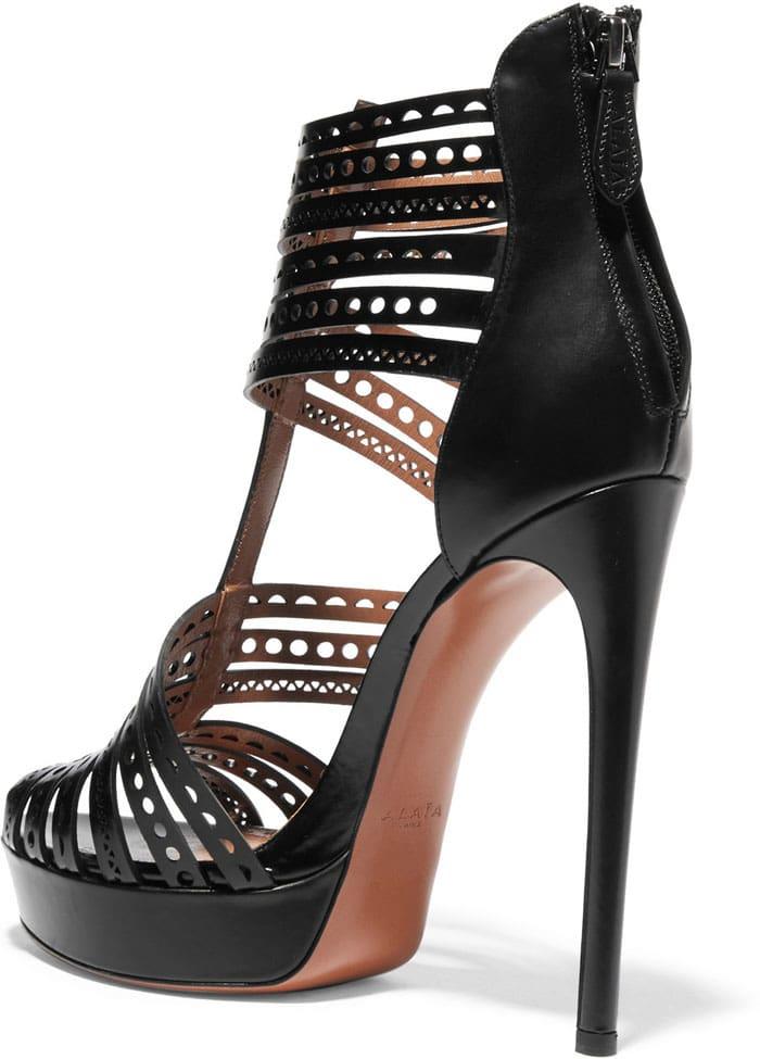 Alaia Laser Cut Sandals 2