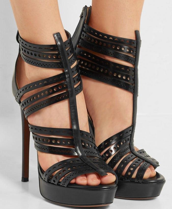 Alaia Laser Cut Sandals 3