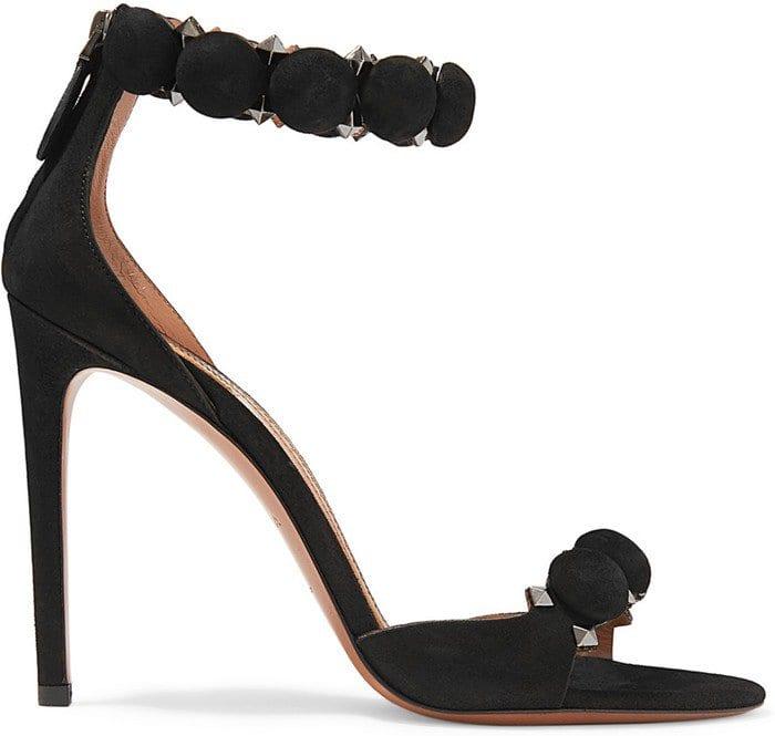 Alaia Studded suede heels