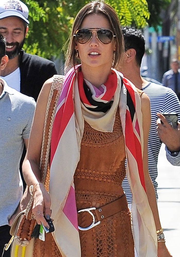 Alessandra Ambrosio West Hollywood Shopping Robert Clergerie 1