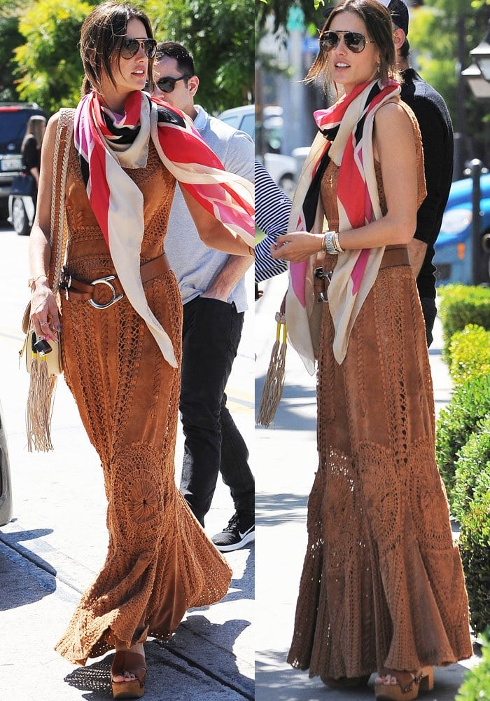 Alessandra Ambrosio West Hollywood Shopping Robert Clergerie 3