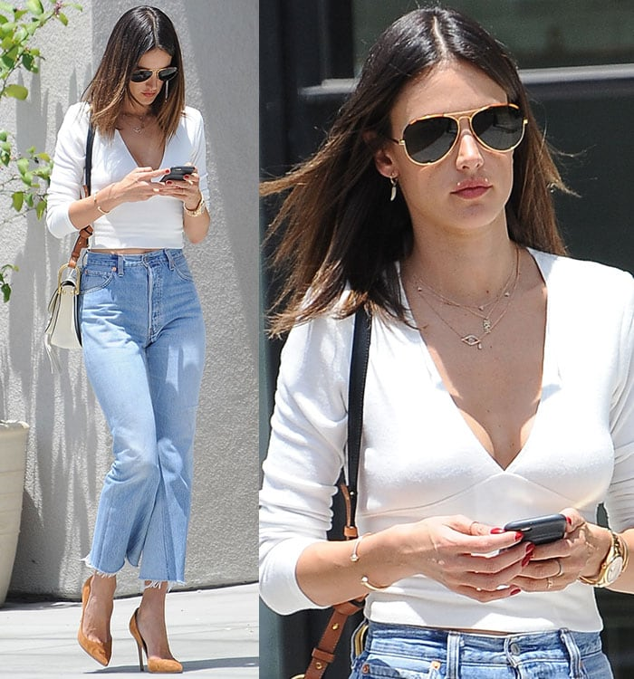 Alessandra-Ambrosio-cleavage-midriff-crop-top-jeans