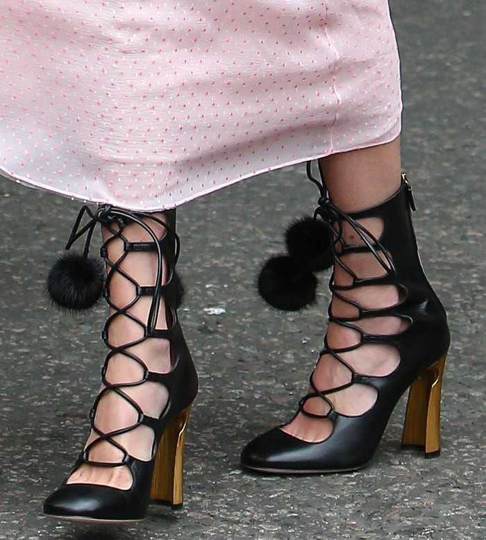 Alexa-Chung-Gucci-lace-up-boots-pom-pom-detail