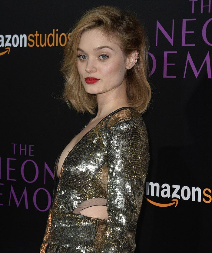 Bella Heathcote did her best to pull off a look consisting of mismatched metallics