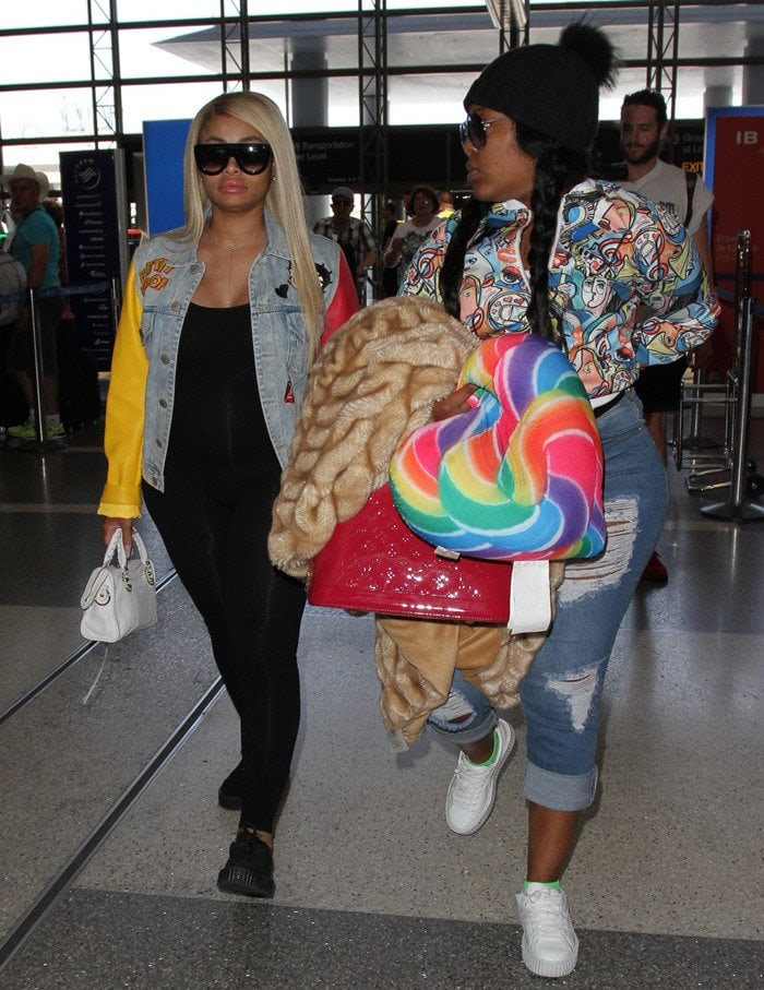 Blac Chyna Shows Off Growing Belly at LAX
