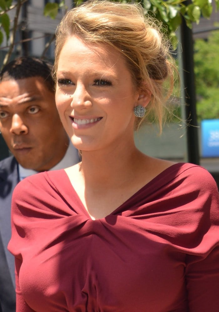 Blake Lively on her way to the set of The Chew in New York on June 21, 2016