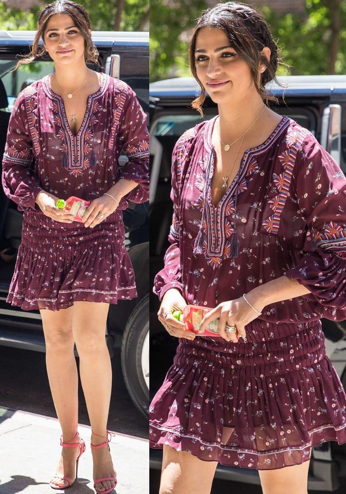 Camila Alves arrives at her hotel in Tribeca on June 14, 2016