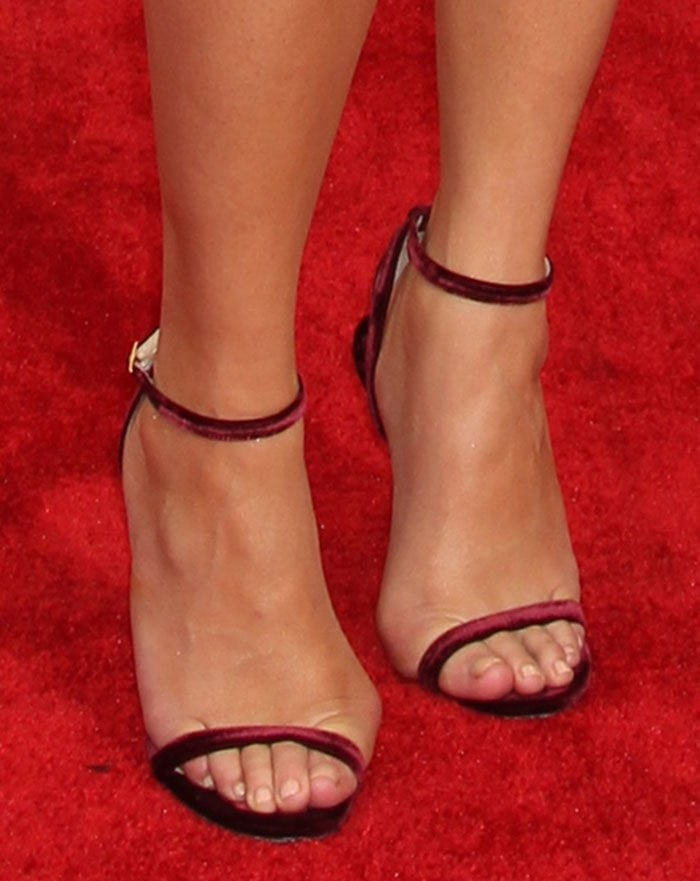Chrissy Teigen Wows In Jimmy Choo Minny Sandals