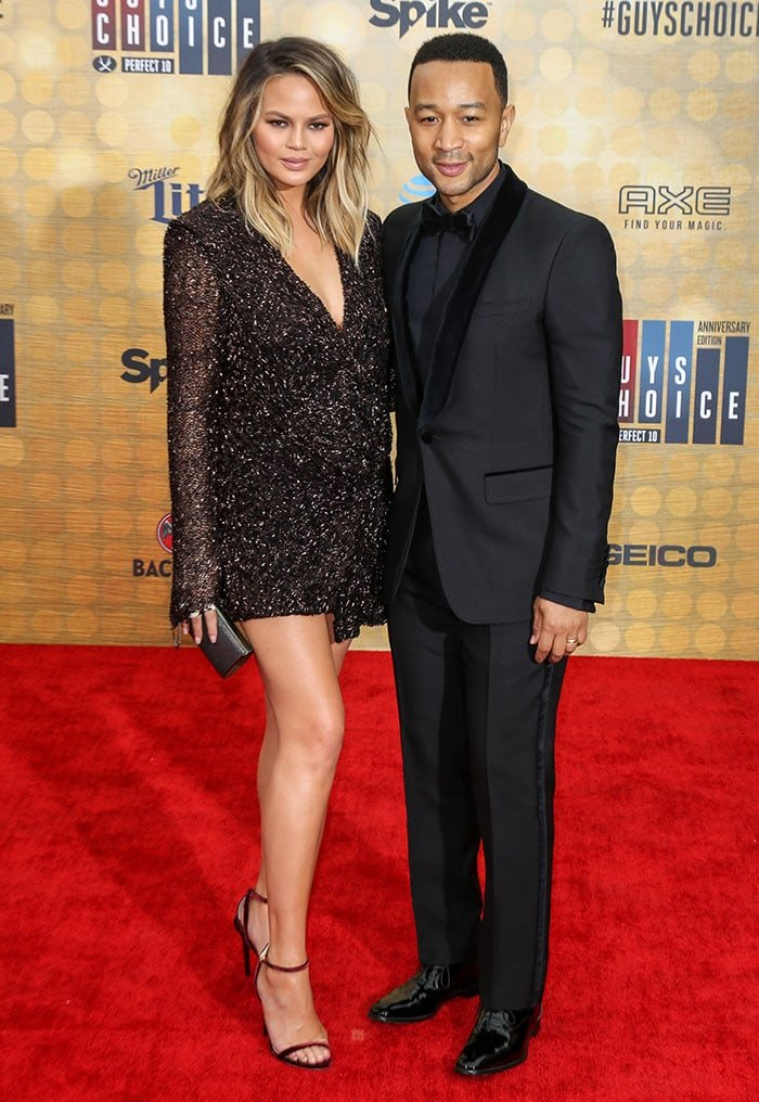 Chrissy Teigen and John Legend at Spike TV 10th Annual Guys Choice Awards in Culver City on June 4, 2016