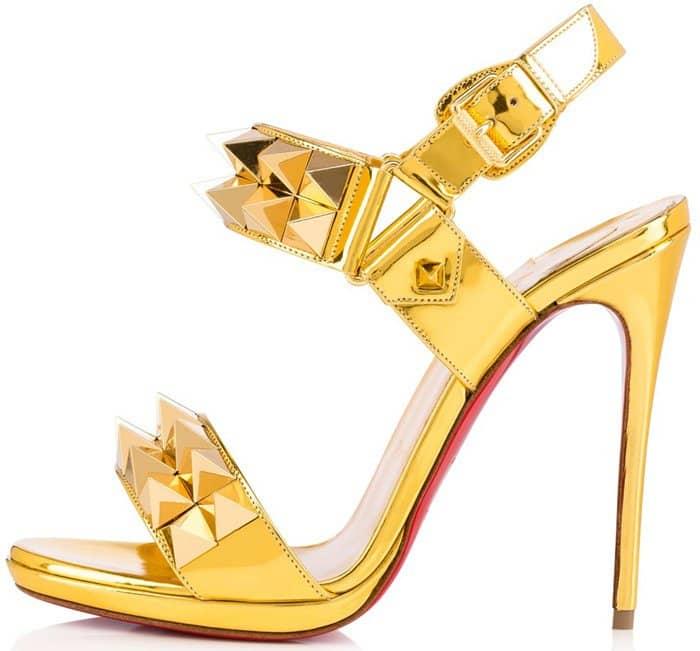 Christian Louboutin Miziggoo Gold Sandals