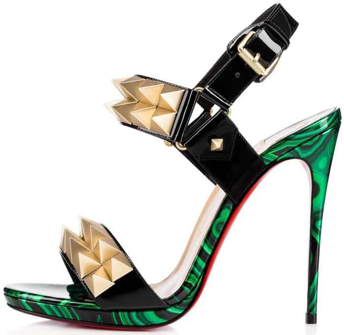 the best attitude a32df 2f488 Karrueche Tran Wears Christian Louboutin 'Miziggoo' Sandals