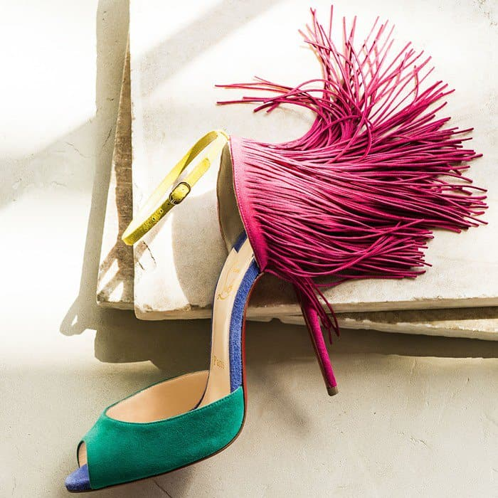 Christian Louboutin Otrot Suede Sandal with Fringe