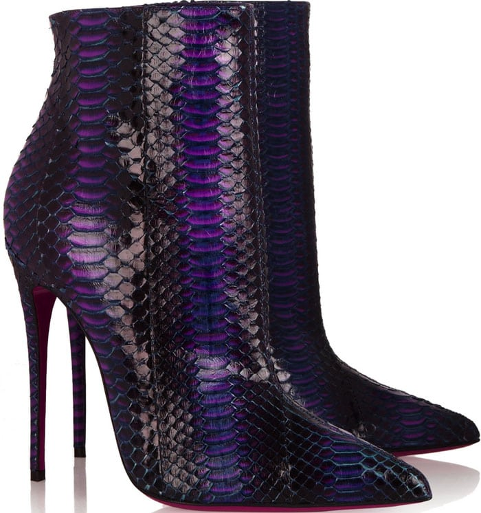 Christian Louboutin So Kate Boots Watersnake 1