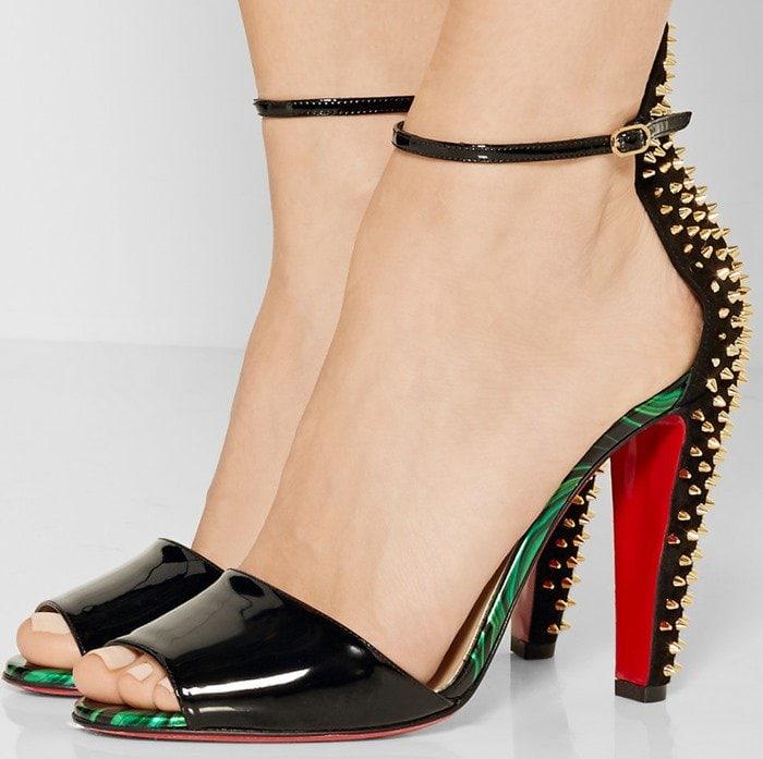 Christian Louboutin Tropanita 100 studded patent-leather sandals
