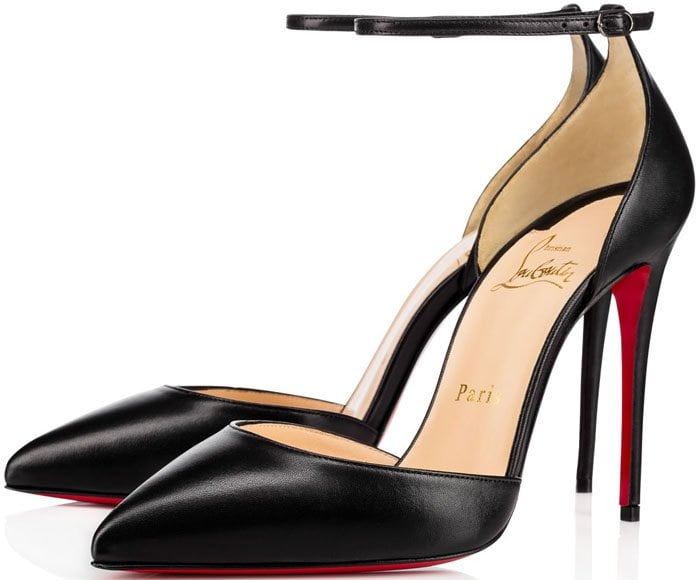 These pumps are designed with a classic pointed toe and flattering d'Orsay silhouette