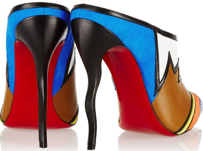 Christian Louboutin Vagachina 120 leather and suede mules heels