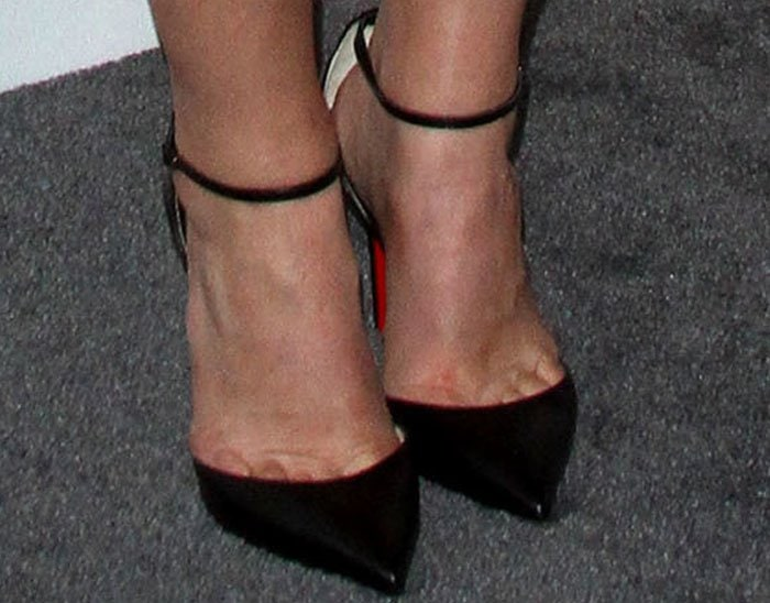 "Claire was all about tried and tested silhouettes in the Christian Louboutin ""Uptown"" pumps"