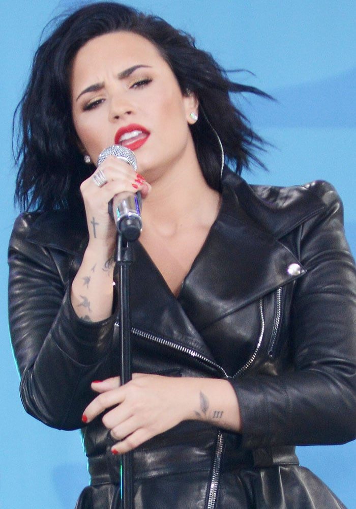 Demi Lovato Good Morning America Giuseppe Zanotti 1