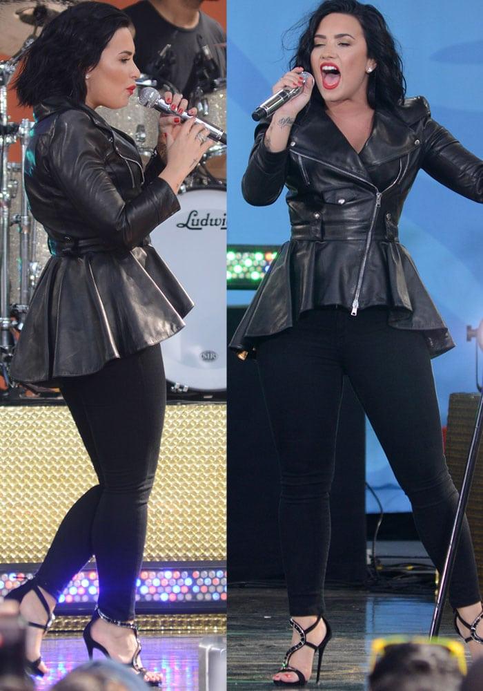 Demi Lovato Good Morning America Giuseppe Zanotti 3