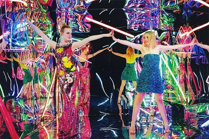 Elle-Fanning-Dakota-Fanning-sequins-Neon-Demon
