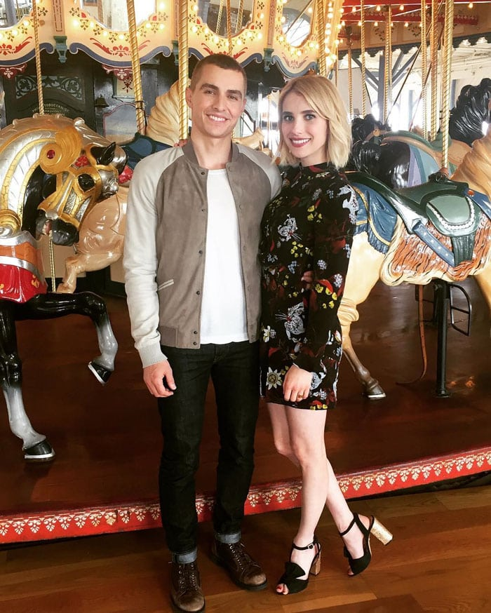"""Emma uploads a photo of herself in Charlotte Olympia heels with """"Nerve"""" co-star Dave Franco"""