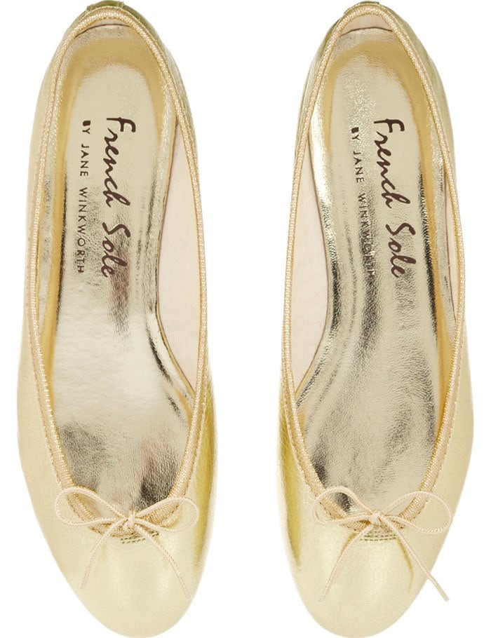 1deef9d9d3335 Olivi Palermo Stomps Divots in French Sole Ballet Flats