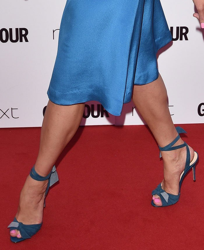 Gemma Arterton in Alexandre Birman sandals