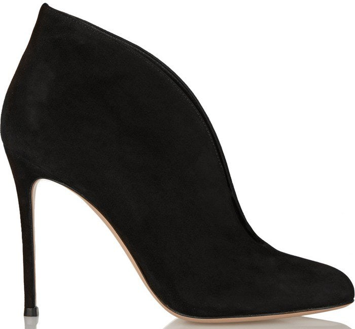 Gianvito Rossi Vamp 100 suede ankle boot