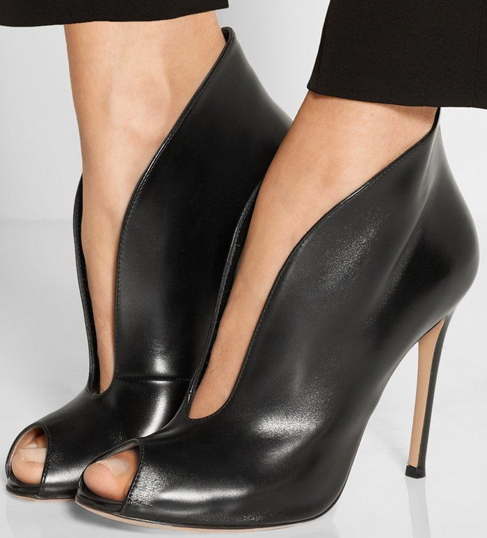Gianvito Rossi Vamp 105 leather ankle boot