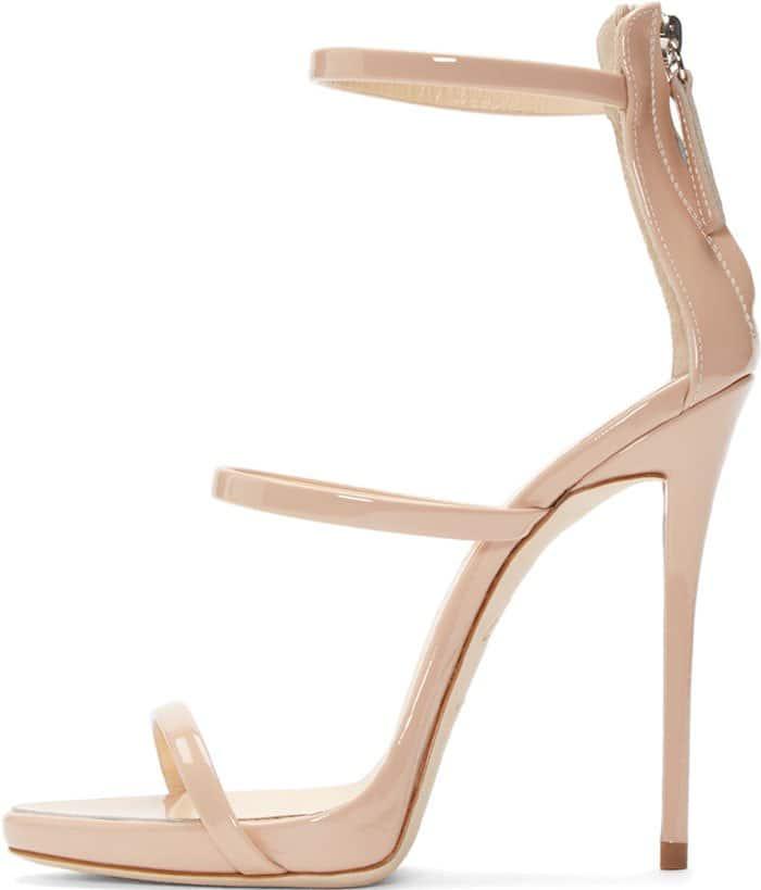 Giuseppe Zanotti Coline Nude Three-Strap Sandals