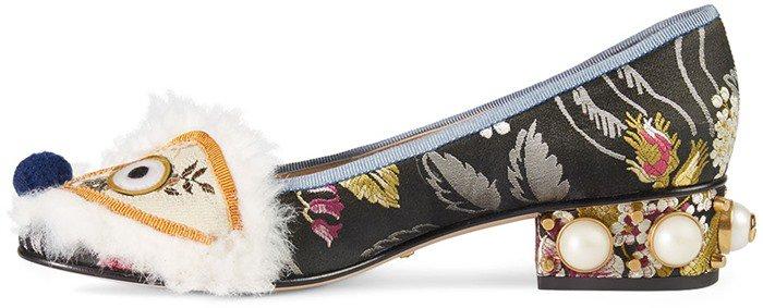 Gucci Kimberly Embroidered Jacquard Heel