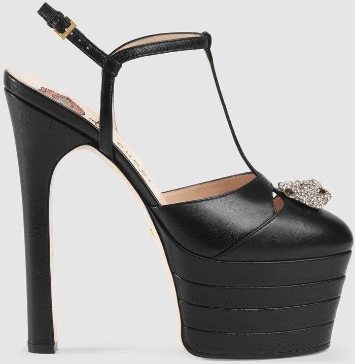 Gucci Leather Platform Heels Black