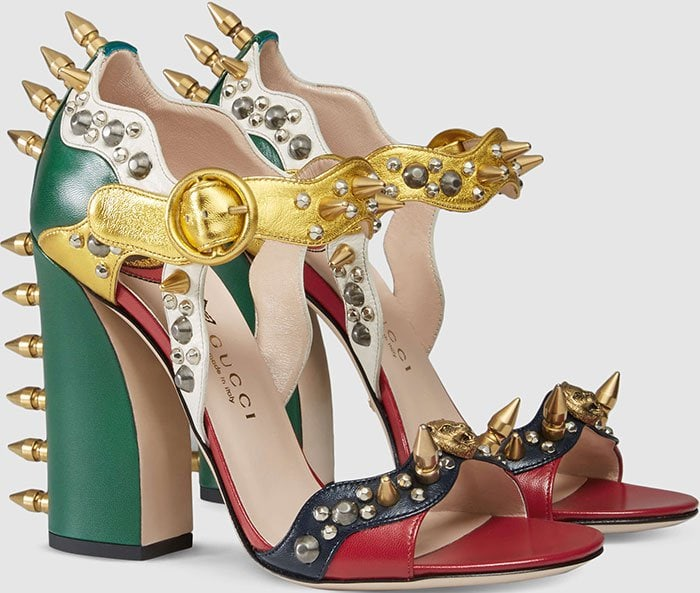 Gucci-multicolored-leather-studded-sandals