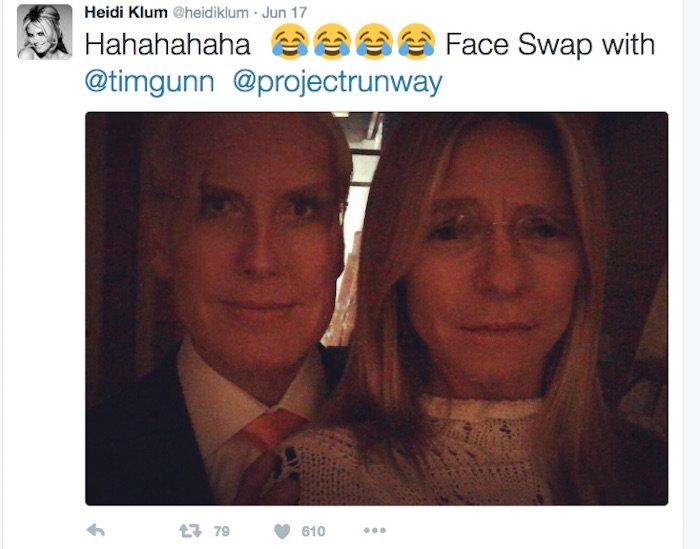 Heidi Klum twitter face swap